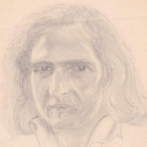 John Tavener - Pencil drawing by Michael Stewart 1978